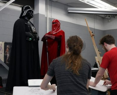 Animation students visit a galaxy far, far away