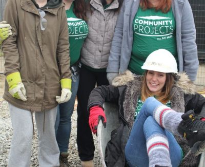 Algonquin students help build a home for local family with Habitat for Humanity