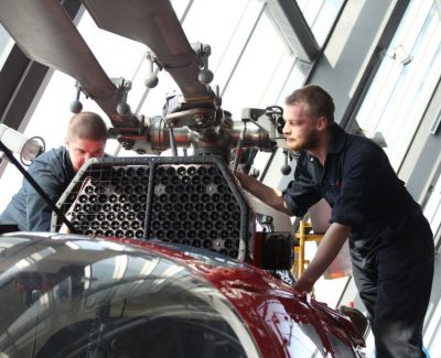 Old helicopter shines new light in aircraft maintenance program