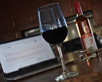 Sommelier program faculty and students get creative learning at home