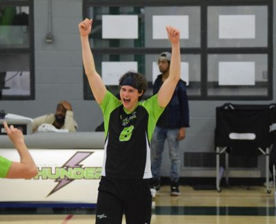 Algonquin Thunder men's volleyball soar past George Brown Huskies