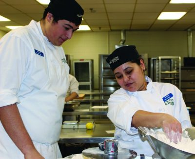 Pastry program baking in second year