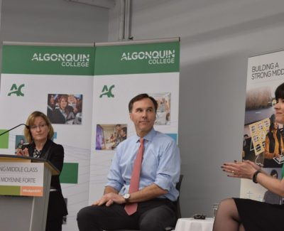 Finance minister visits Algonquin College