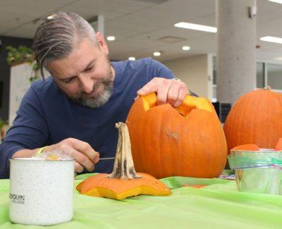 Taking a stab at pumpkin carving